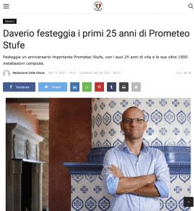 Varese Press: Daverio festeggia i primi 25 anni di Prometeo Stufe