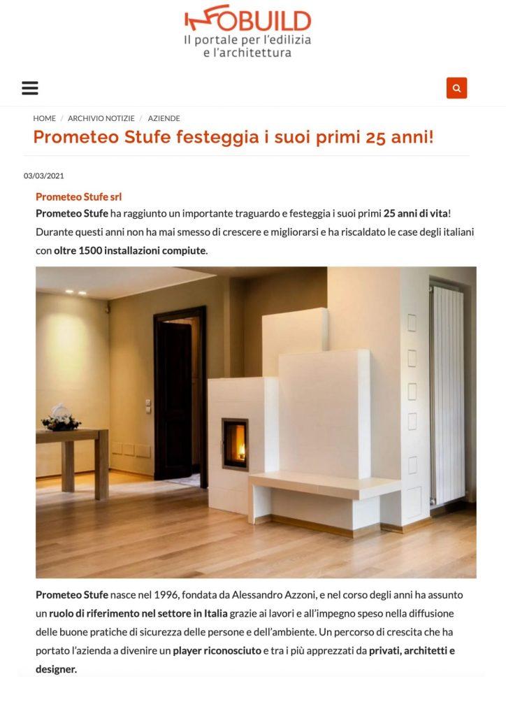 Infobuild.it: Prometeo Stufe festeggia i suoi primi 25 anni!