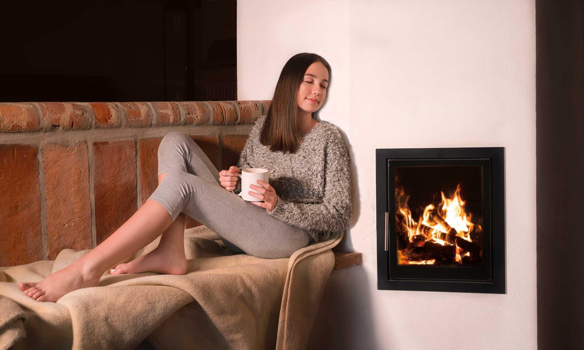 Benessere riscaldamento a legna - stufa